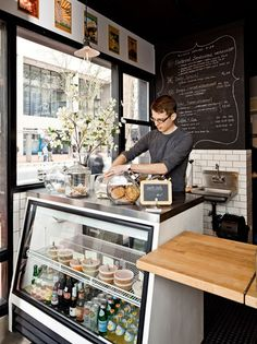 Café Vélo | Portland. It would be very neat to offer a to-go only healthy options only eating place! More