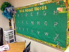 Beautiful jungle-themed word wall