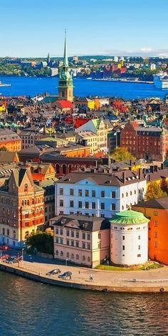 Very colorful Stockholm, Sweden. #Sweden