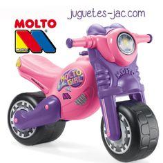 Moto Chica rosa de Molto a partir de 3 años.
