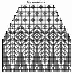 Ninapetrinas blogg!: Mysteriegenseren med løv! Knitting Charts, Knitting Stitches, Pattern Art, Knitted Hats, Diy And Crafts, Mosaic, Manga, Knits, Crossstitch