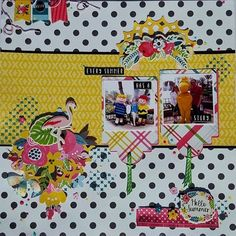 More details about how @petalsdaye created this fun layout are on the blog! #urbanscrapbook #echoparkpaper #scrapbookkit #scrapbooking
