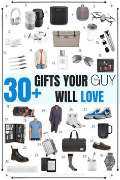 There are so many men's gift ideas in this post, there's a gift for every type of guy! Love it! Gift Guide For Men, Travel Crafts, Perfect Gift For Him, Man Up, Young Love, Mom Advice, Raising Kids, Mom Blogs, Travel With Kids