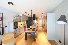 Kuchnia z wyspą - zobacz gotowy projekt wnętrza - Galeria - Dobrzemieszkaj.pl Corner Desk, Loft, Bed, Furniture, Home Decor, Corner Table, Decoration Home, Stream Bed, Room Decor