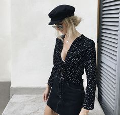 Summer outfits, fisherman's hat, beret, outfits with hats, dope outfit Outfits With Hats, Dope Outfits, Pretty Outfits, Fashion Outfits, Womens Fashion, Estilo Fashion, Ideias Fashion, Festival Outfits, Dress To Impress