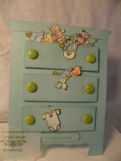 A baby card, bring on the cute  -- stamp set: Baby Bundles by Stampin Up -