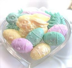 pastel bunnies and eggs soap by The Charming Frog on Etsy