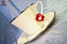 IOU red acrylic apple necklace Sherlock & by houseofdarkly on Etsy, $10.00