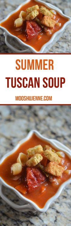 Summer Tuscan soup w