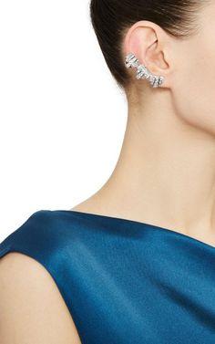 Silver Plated With Swarovski Crystals Lou Lou Lobo Earcuffs by Ca & Lou for Preorder on Moda Operandi