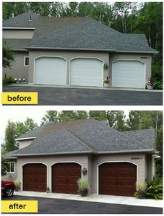 This Homeowner Replaced Her Worn Out Garage Doors With Clopay Gallery  Collection Groove Panel Steel Doors