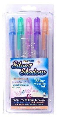 Dinglefoot's Scrapbooking - Sakura Silver Shadow Outline Pens, $13.99 (http://www.dinglefoot.com/sakura-silver-shadow-outline-pens/)