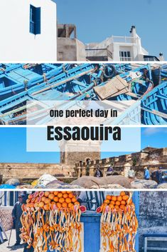 One perfect day in Essaouira, Morocco's beautiful blue and white coastal windy city. Click for a full 24 hour guide to Essaouira.  #Essaouira #Morocco #NorthAfrica #MoroccoTravel #MoroccoPlaces #TravelInspiration