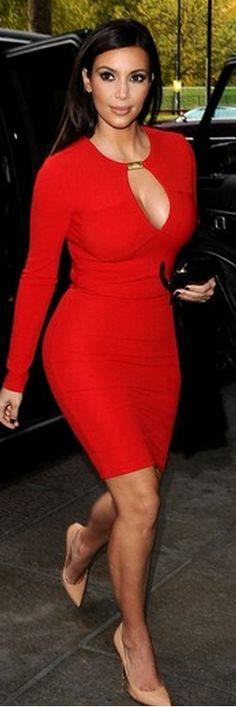 Kim Kardashian's red dress