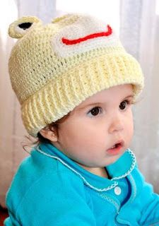 Receita de Crochê Infantil: GORROS E TOUCAS