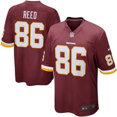 Jordan Reed Washington Redskins Youth Nike Team Color Game Jersey - Burgundy 373e6dd21