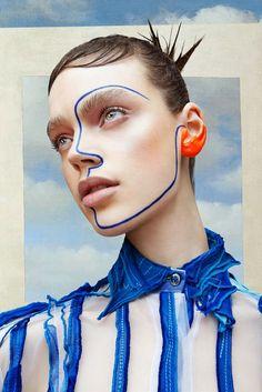 Surrealistic Constructivism on Behance Beauty Photography, Creative Photography, Fashion Makeup Photography, Makeup Inspo, Makeup Inspiration, Fashion Inspiration, Foto Face, Shotting Photo, Photographie Portrait Inspiration