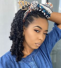Protective styling Loving these juicy twists and bow on danishrolls Protective Hairstyles For Natural Hair, Natural Hair Braids, Natural Protective Styles, Natural Twist Hairstyles, Protective Style Braids, Curly Hair Styles, Natural Hair Styles, Natural Hair Care, Natural Hair Twist Styles