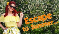 """We just launched our NEW """"Escape to Summer"""" collection! Featuring flirty styles and fun novelty prints! A fashion story about all things Summer! Lemons Palm Trees Flamingos Fruit and much more!  www.shop-vdm.com  #shopvdm #tikiswag #tikiwife #retro #pinup #pinupshop #vintagestyle #pinupfashion #lemons #summerfashion #escapetosummer #vintageinspired #noveltyfabric #tikifashion #rockabillygirl  #rockabillyfashion #pinupstyle  #pinupgirl #tikistyle #tikipinup #pinuplife #tikidress #lemonfabric…"""