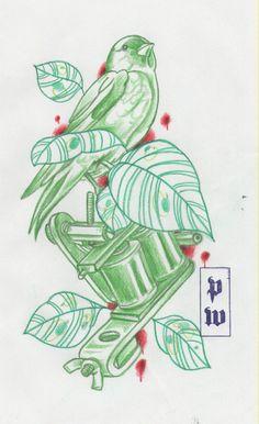 Traditional Tattoo Flowers, Traditional Tattoo Design, Free Tattoo Designs, Flower Tattoo Designs, Gangsta Tattoos, Tattoo Project, Tattoo Illustration, Tattoo Flash Art, Tattoo Machine