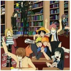And THAT is not a library I will be visiting any time soon. It's too dangerous to have Light, Izaya, and Sebastian in the same room.