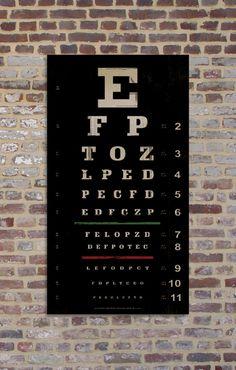 vintage-style Snellen eye chart
