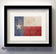 Texas Flag Prints - Set of 5 Texas Secession, Shes Like Texas, Hook Em Horns, Cabin Chic, Texas Flags, Valley View, Blue Bonnets, Baby Boy Nurseries, Yellow Roses