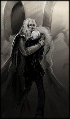 ...Люциус, Драко и Нарцисса Малфой  (после битвы за Хогвартс)...