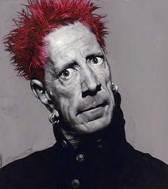 Johnny Rotten by Sebastian Krüger (Germany) Johnny Rotten, Best Portraits, Celebrity Portraits, Famous Men, Famous Faces, Famous People, Sebastian Kruger, Music Pics, Celebrity Caricatures