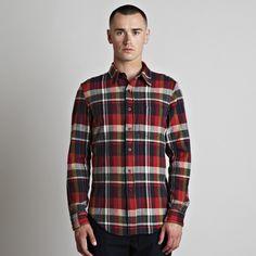 Officer's Shirt L/S - Plaid Flannel