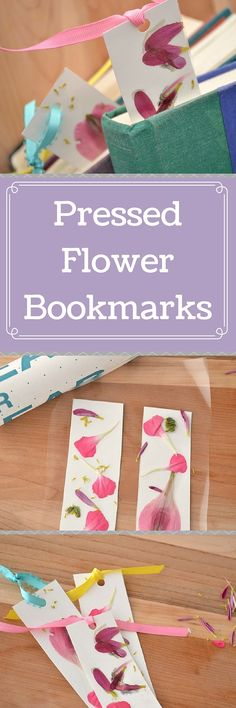 These pressed flower bookmarks are a great craft to do with kids and a great way to welcome spring!