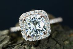 Certified 8mm Cushion Cut Forever by loveforeverjewelrysv on Etsy