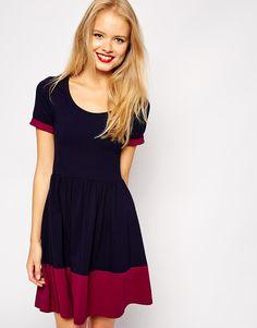 Image 1 ofASOS Contrast Skater Dress