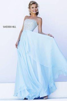 Sherri HIll #8554 I love this Cinderella blue Sherri Hill Dress!!