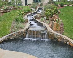 Backyard Water Features | For more information on this Builder: www.aquatechpools.com ...