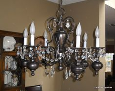 Spray Painted Chandelier On Pinterest Paint Chandelier