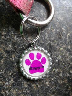 Bottlecap pet ID tags - $7.5