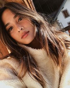 Straight hair for a change 🌻 Beauty Makeup, Hair Makeup, Hair Beauty, My Hairstyle, Asian Hair, Hair Dos, Pretty Face, Natural Makeup, Pretty People