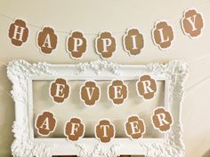 Happily Ever After Banner Bunting Wedding by paperandpartiesco