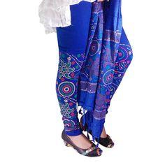 Buy Fashion LifeStyle Blue Cotton Legging With Dupatta by Fashion LifeStyle, on Paytm, Price: Rs.489?utm_medium=pintrest