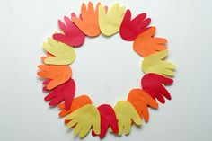 #Thanksgiving hand wreath #craft for kids
