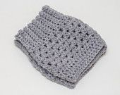Crochet Boot Cuffs in Grey - Gray Boot Toppers - Boot Socks - Leg Warmers