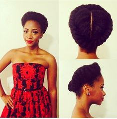 Teyonah Parris natural hair updo