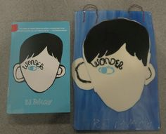 Students worked with a partner to create a book cover using glass. They were allowed to use sheet glass, frit and Glassline paint to replicate the cover. These will hang in the middle school library.