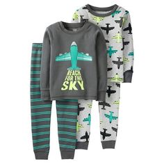 4 Piece Reach For The Sky Cotton PJ Set - Just One You™Made by Carter's®