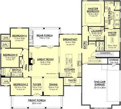 Farmhouse Style House Plan - 4 Beds 2.5 Baths 2686 Sq/Ft Plan #430-156 Floor Plan - Other Floor Plan - Houseplans.com