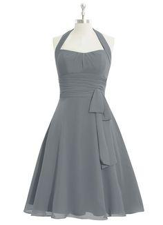 AZAZIE HALEY. Haley is a knee-length dress made of chiffon in an A-line cut. #Bridesmaid #Wedding #CustomDresses #AZAZIE