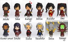The cast of Blade's Edge as Chibi