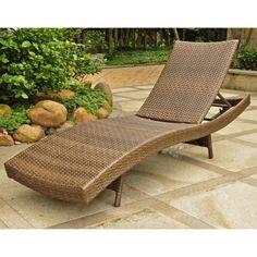 International Caravan Barcelona Outdoor Resin Wicker/ Aluminum Multi-Position Chaise Lounge