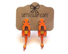 Charmander Inspired Cling Earring – Nerdy But Still Girly